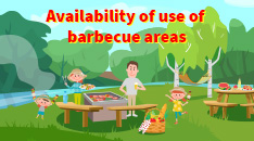Availability of use of barbecue areas